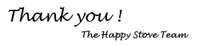 thank you! from the happy stove team.